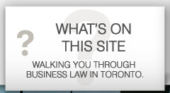 what's on this site? walking you through business law in toronto